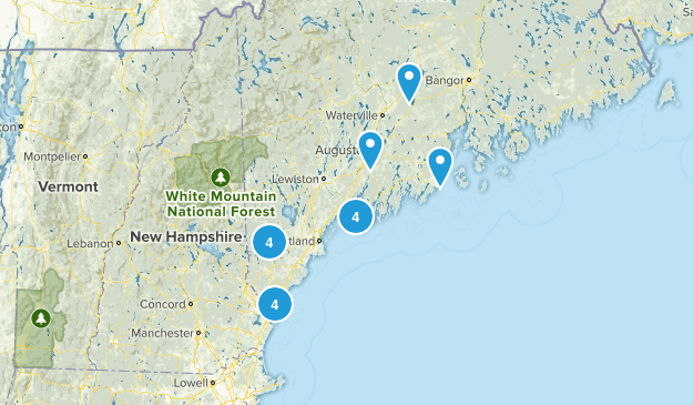 Maine Local Parks Map