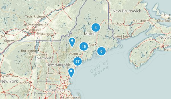 Maine Mountain Biking Map
