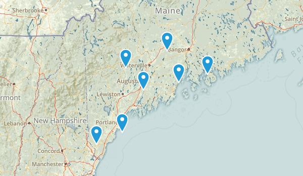 Maine Rails Trails Map