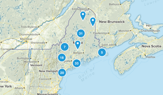 Maine State Parks Map