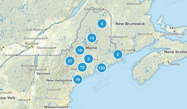 Maine Trail Running Map