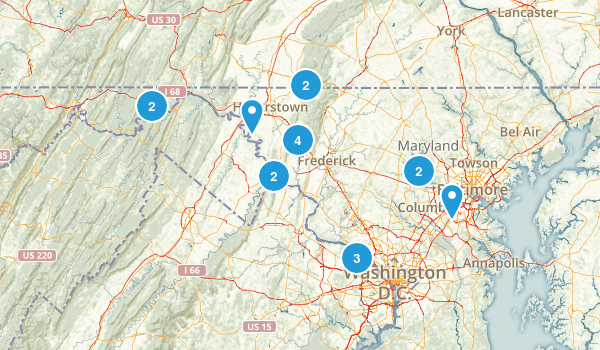 Maryland Backpacking Map