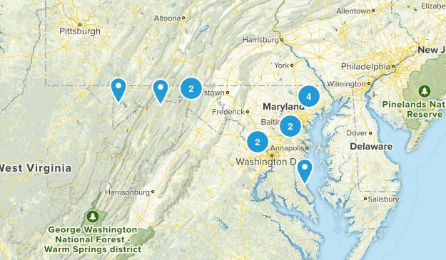 Maryland Rails Trails Map