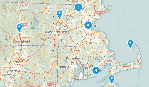 Massachusetts City Walk Map