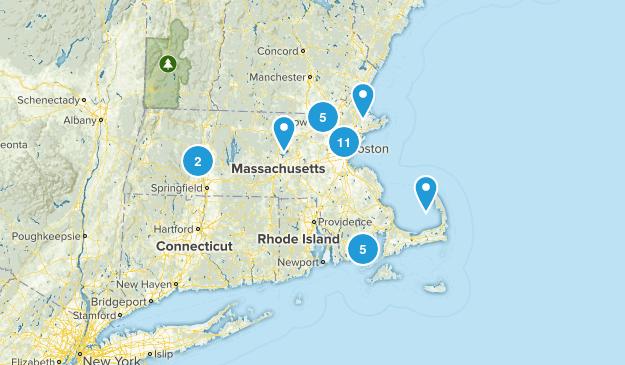 Massachusetts City Walk Map