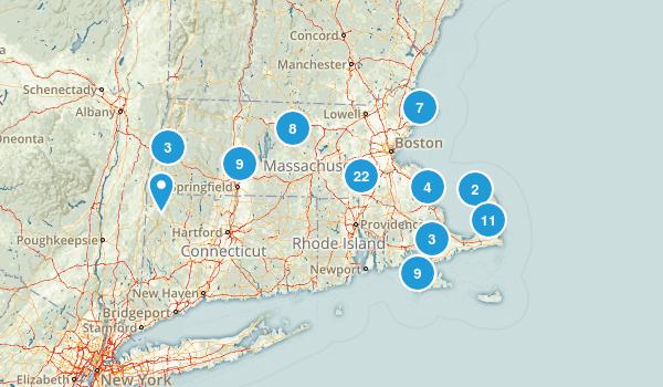 Massachusetts No Dogs Map
