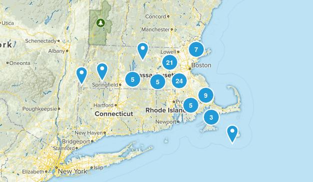 Massachusetts Horseback Riding Map