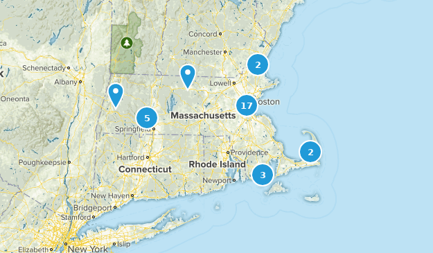 Massachusetts Paved Map