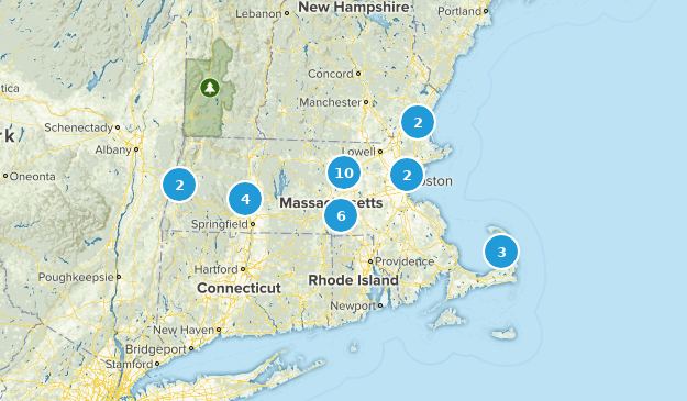 Massachusetts Rails Trails Map