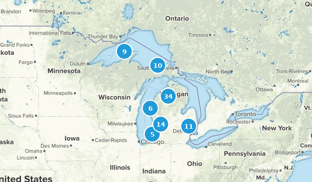 Michigan Beach Map