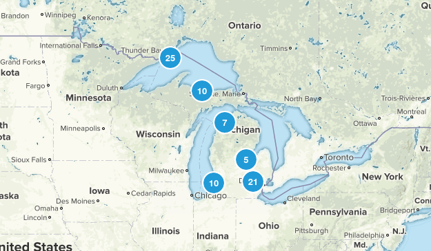 Michigan No Dogs Map