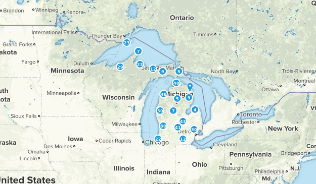 Michigan Forest Map