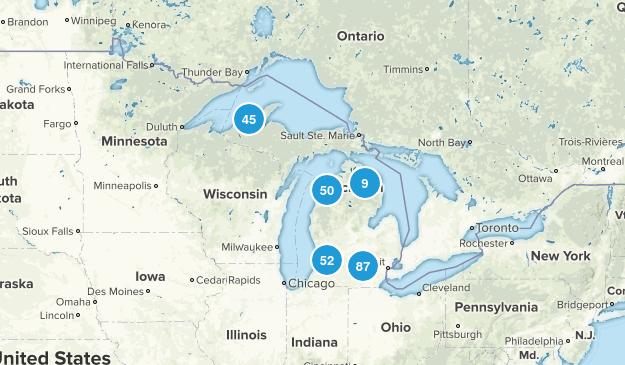 Michigan Lake Map