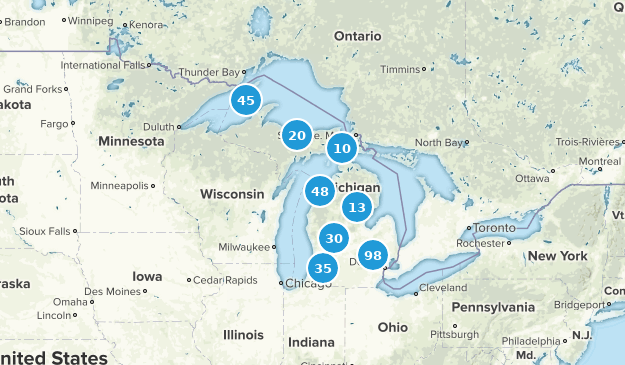 Michigan Lake Map