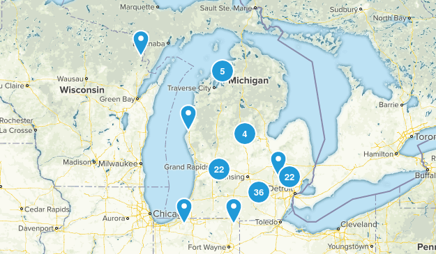 Michigan Local Parks Map
