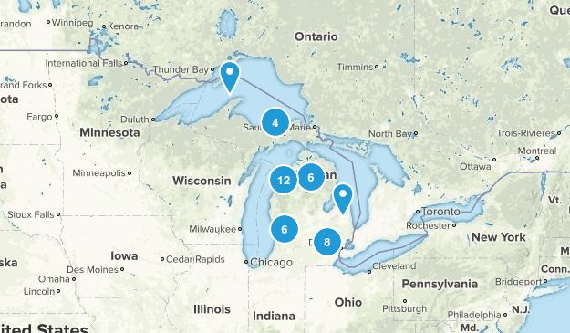 Michigan Paddle Sports Map