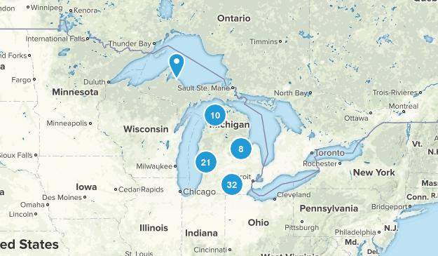 Michigan Road Biking Map