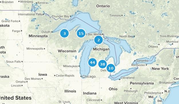 Michigan Snowshoeing Map