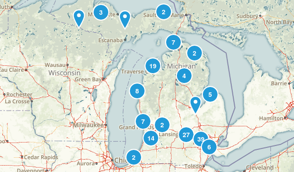 Michigan State Parks Map