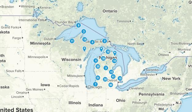 Michigan Trail Running Map