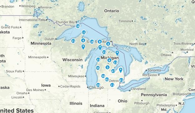 Michigan Walking Map
