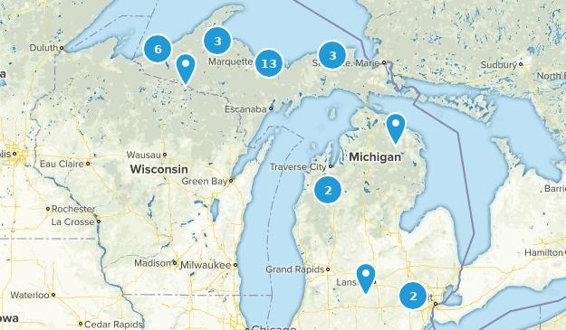 Michigan Waterfall Map