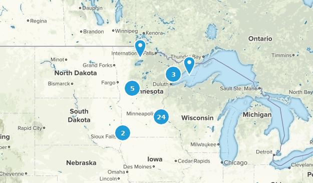 Minnesota Beach Map