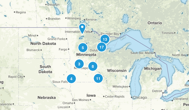 Minnesota Camping Map