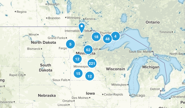 Minnesota Hiking Map