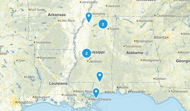 Mississippi Road Biking Map