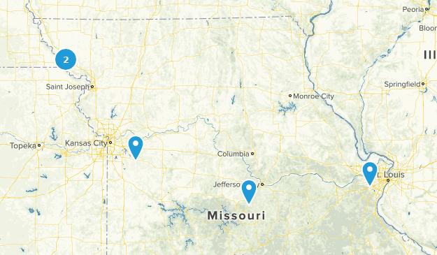 Missouri Cross Country Skiing Map