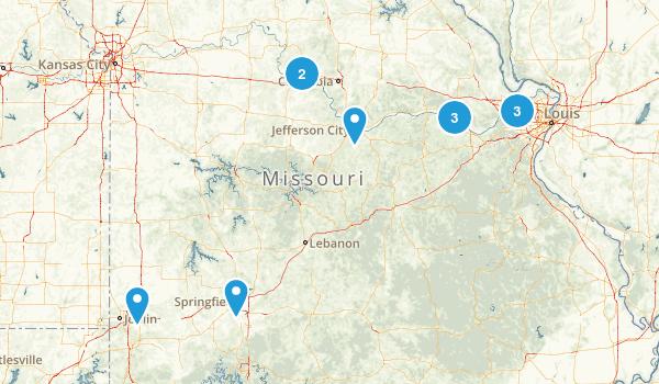 Missouri Rails Trails Map