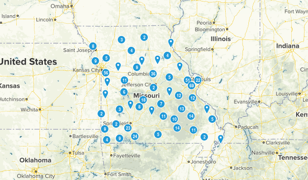 Missouri Walking Map