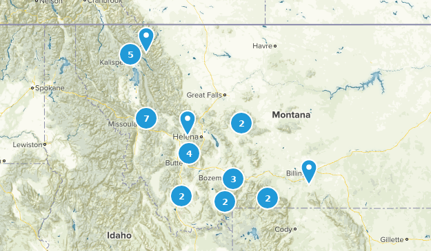 Montana Cross Country Skiing Map