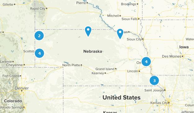 Nebraska Camping Map