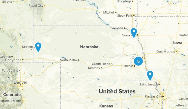 Nebraska Cross Country Skiing Map