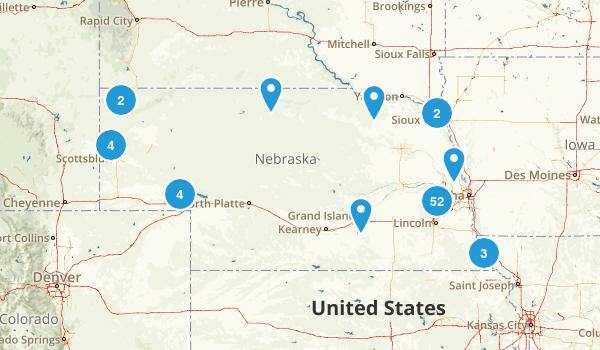 Nebraska Dogs On Leash Map