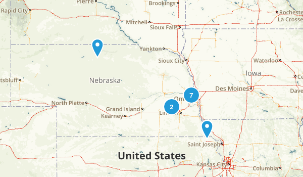 Nebraska Fishing Map