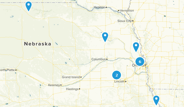 Nebraska Fishing Map