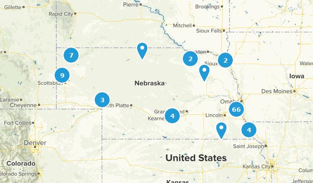 Nebraska Hiking Map