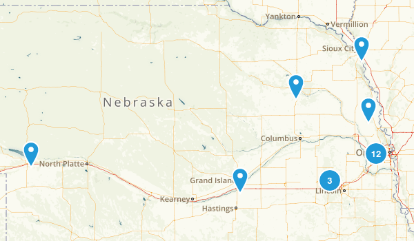 Nebraska Lake Map