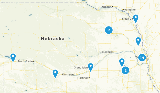 Nebraska Lake Map