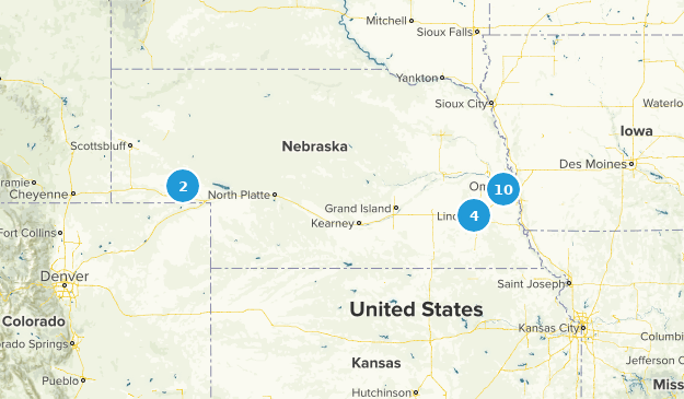 Nebraska Local Parks Map