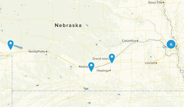 Nebraska Partially Paved Map
