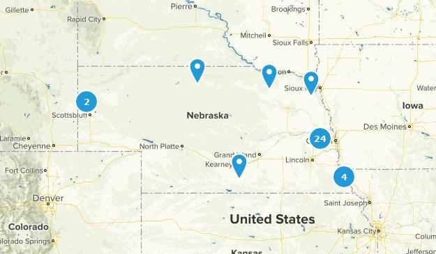 Nebraska River Map