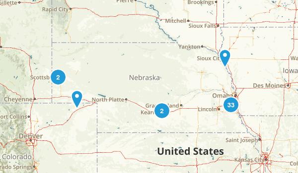 Nebraska Road Biking Map