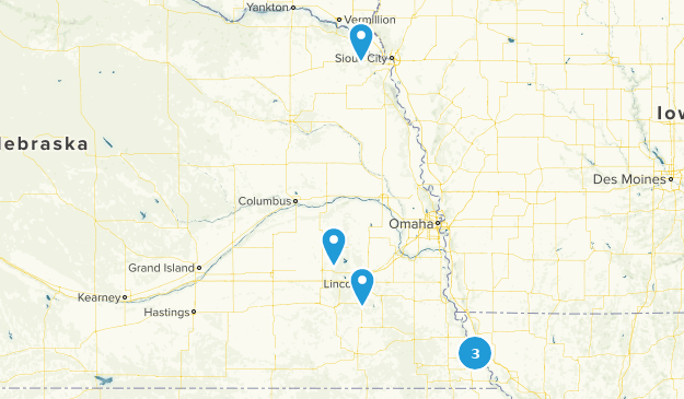Nebraska Snowshoeing Map