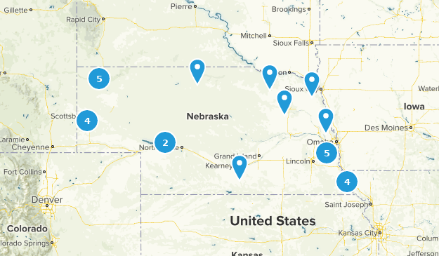 Best State Parks In Nebraska Alltrails - Us-map-nebraska-state