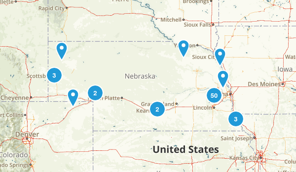 Best Trail Running Trails In Nebraska Photos Reviews - City map of nebraska
