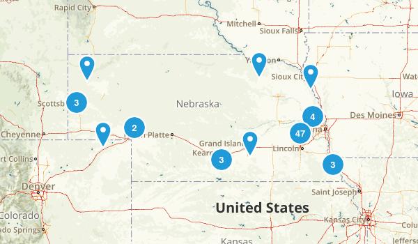 Nebraska Trail Running Map